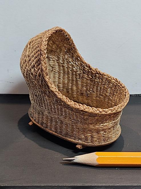 1/12 Scale Handcrafted Wicker Bassinet