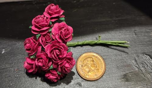 Burgundy Wine Paper Roses
