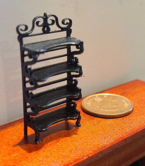 "1/4"" Scale (1/48) Wooden Baker's Rack"