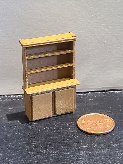 """1/4"""" Scale (1/48) Brown Wooden Cupboard"""