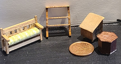 """1/4"""" Scale (1/48) Grouping of Furniture"""