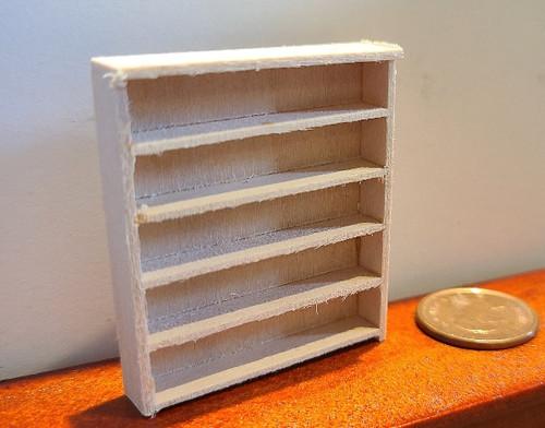 "1/4"" Scale (1/48) 5 Shelf Double Bookcase"