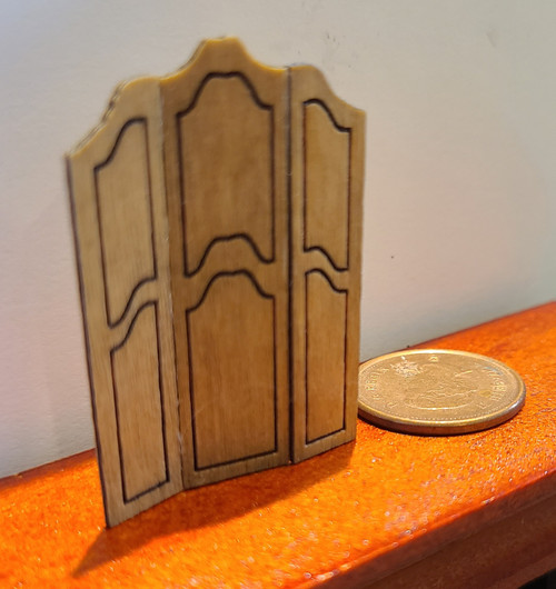 "1/4"" Scale (1/48) Hardwood Screen- Artisan Made"