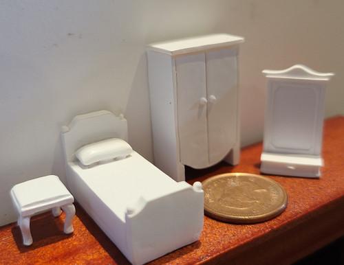 "1/4"" Scale (1/48)  4 Piece Bedroom Set"