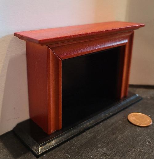 Economical 1/12 Scale Miniature Mahogany Fireplace