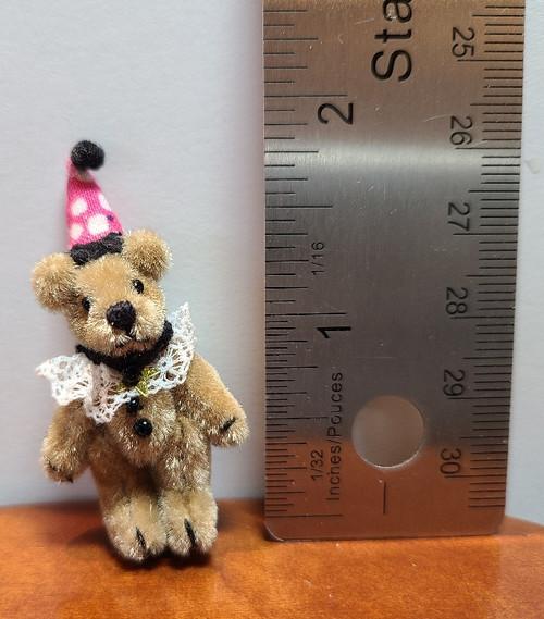 "Teddy in Clown Hat - 1 1/2"" high (not incl. hat)"