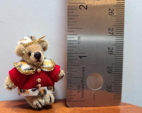 "Teddy in Fancy Outfit- 1 1/2"" high"