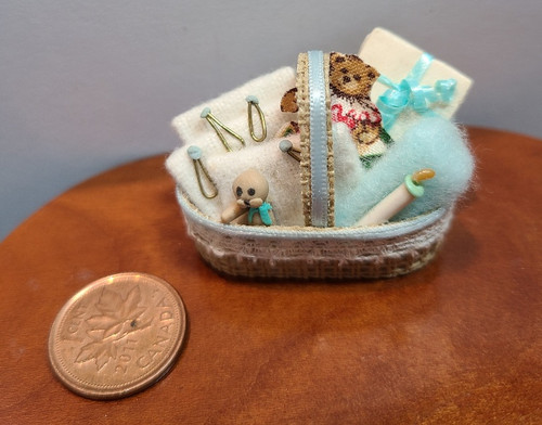 1/12 Scale Filled Baby Basket