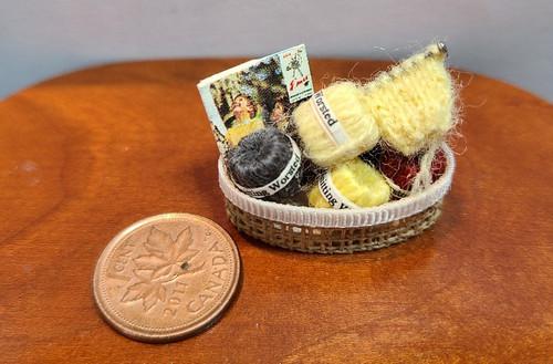 1/12 Scale Miniature Knitting  Basket