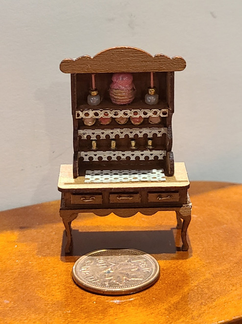"""1/4"""" Scale (1/48) Wooden Filled Hutch"""