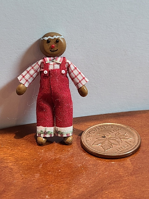 """1/4"""" Scale (1/48) Gingerbread Man Doll (1 3/8"""" high)"""