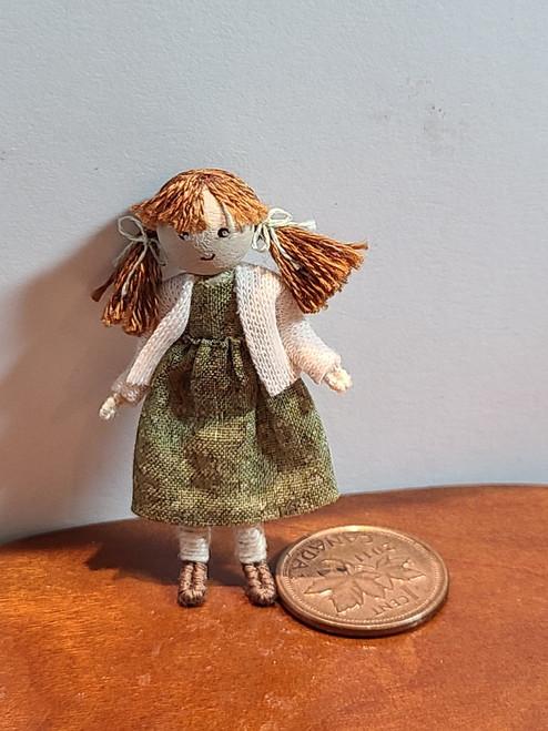 Auburn Bead Head Doll by Adora Bella Minis, UK