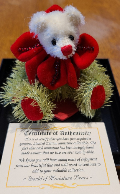 Green Fluffy Teddy with Certificate of Authenticity