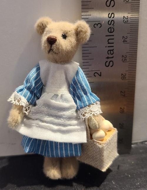 Miniature  Teddy Bear - Gathering Eggs