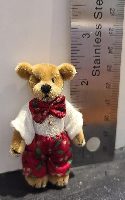 Miniature  Teddy Bear - Bow Tie Boy