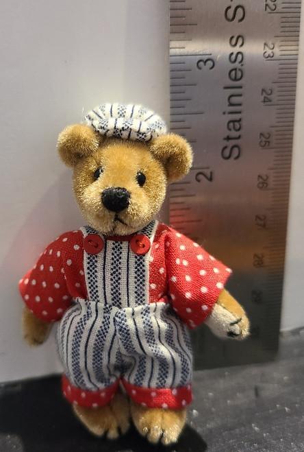 Miniature  Teddy Bear - Train Conductor