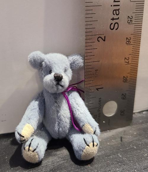 Miniature  Teddy Bear - Blue