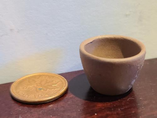 1/12 Scale Dark Clay Planter