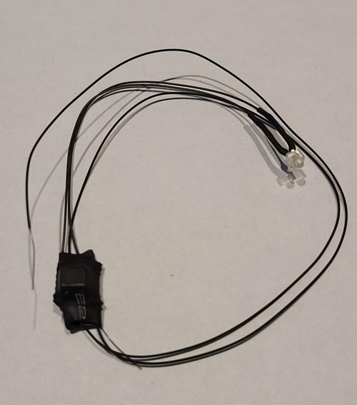 "7-19 volt 3 mm LED Bulb -  Warm White - 8"" Wire"