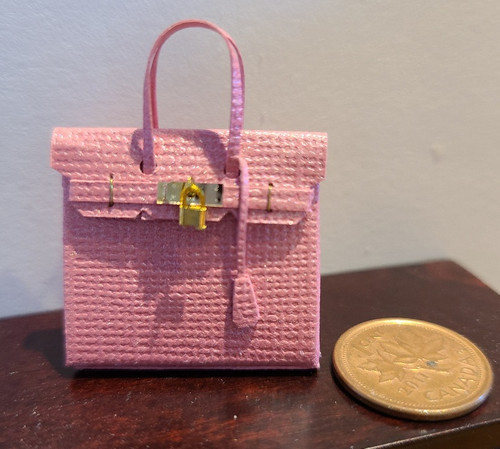1/12 Scale Handcrafted Purse by Itsy Bitsy Minis - Pink
