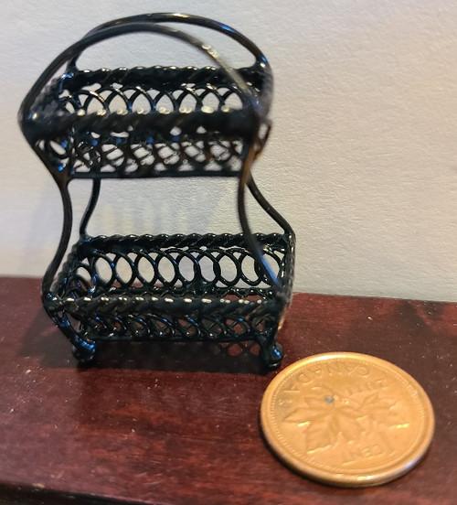 1/12 Scale Black Wire 2 Tier Basket