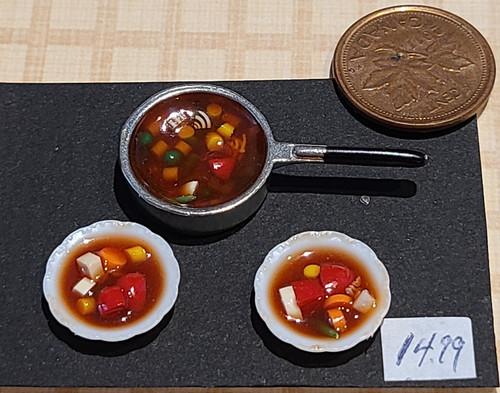 1/12 Scale Pan & Bowls 0f Stew