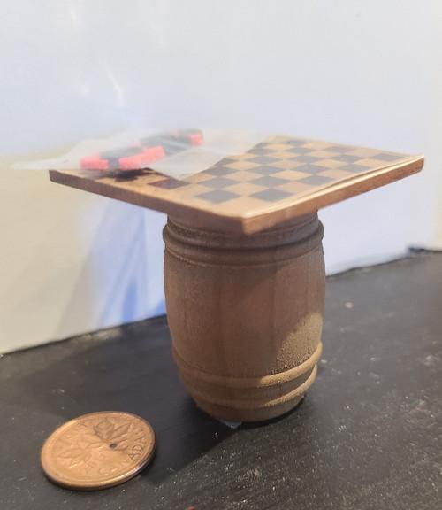 1/12 Scale Checker Board on a Barrel