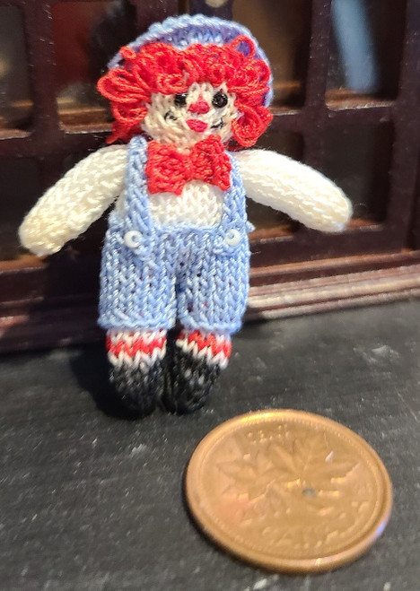 Hand Knit Doll - Raggedy Andie by Canadian Artisan