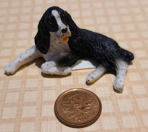 1/12 Scale Black & White Spaniel