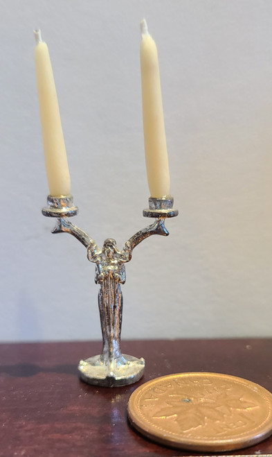 1/12 Scale  Double Candlestick with Candles