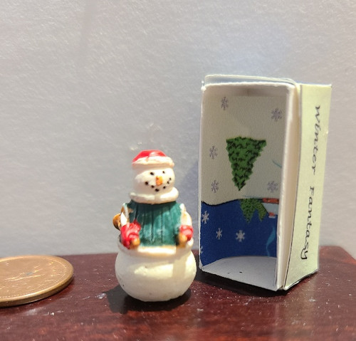 Handcrafted Snowman in Box