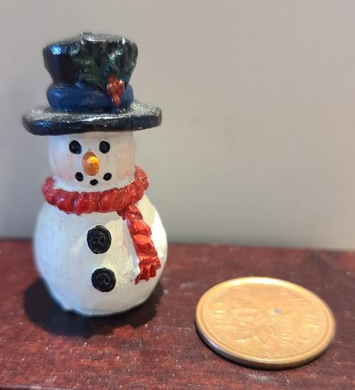 Miniature Snowman Cookie Jar - B