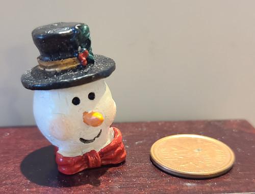 Miniature Snowman Cookie Jar - C