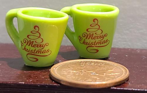 Miniature Mugs - Merry Christmas Tree
