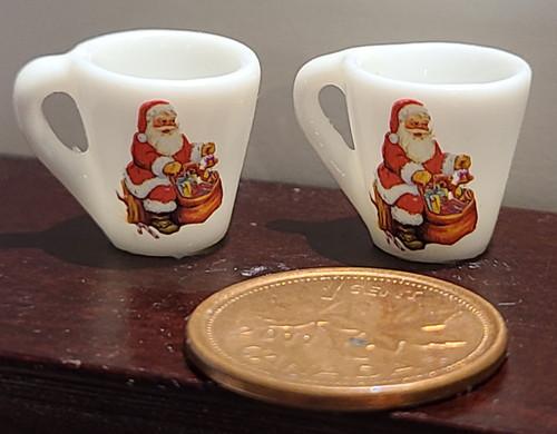 Miniature Mugs - Santa with Bag of Toys