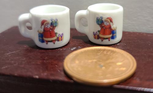Miniature Christmas Mugs - Santa with Toys