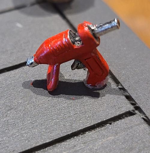 1/12 Scale Red Metal Glue Gun