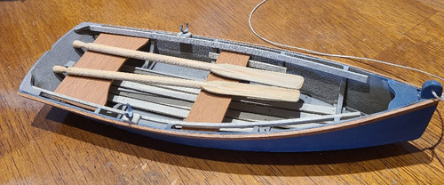 1/12 Scale Wooden Row Boat