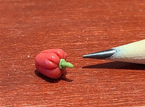 1/12 Scale Handmade Red Pepper