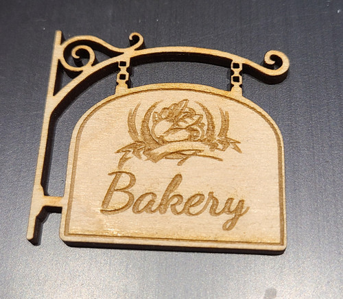 Miniature 1/12 Scale Bakery Sign #1