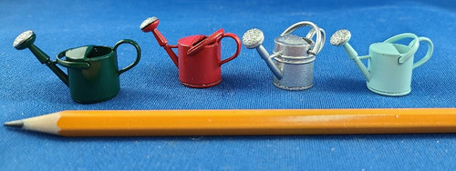Miniature Metal Watering Can with Moving Handle