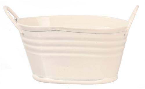 White Tin Wash Tub