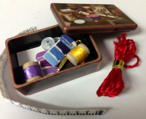 Miniature Antique Sewing Box