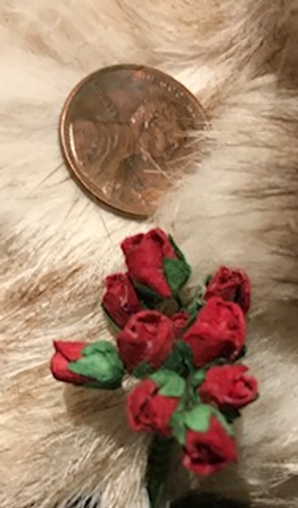 Deep Red Paper Rose Buds