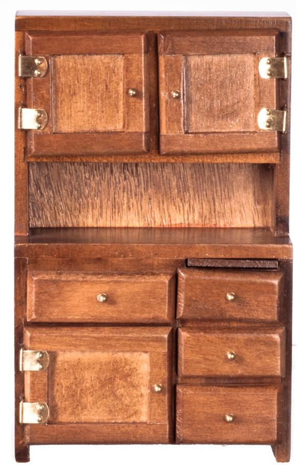 Wooden walnut kitchen/dining room cupboard