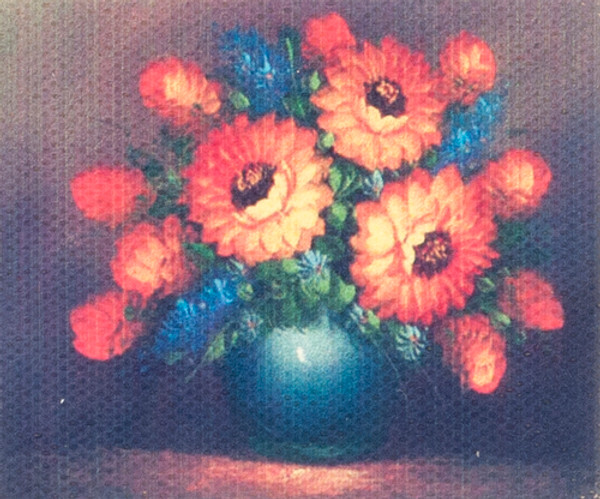 Unframed Flowers Painting