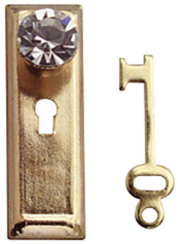 Crystal Door Knobs - Set of 2 with keys