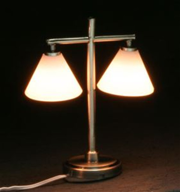 *Double Down Shade Table Lamp - pewter