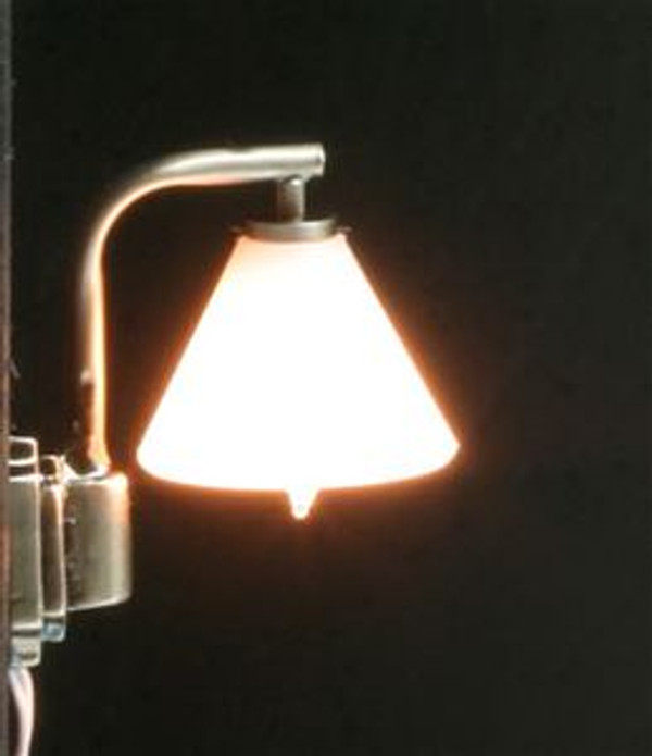 Modern Down Shade Wall Lamp - pewter