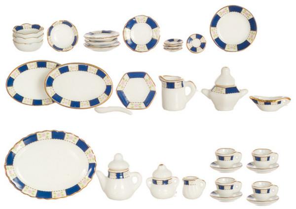 Blue dish set